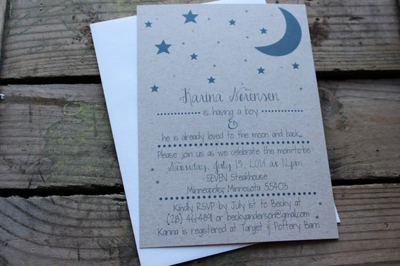 Love You To The Moon And Back Baby Shower Invitations as awesome invitation ideas
