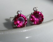 Accented ruby earrings