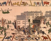 Modern Bayeux Tapestry - Iraq war, Bloody Sunday, Sinking of the Belgrano