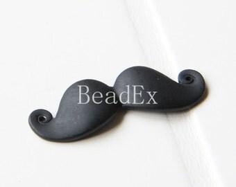 4 PCs / Moustache / Pendant / Matte Black Tone / Base Metal / Charms (CG26//H221)