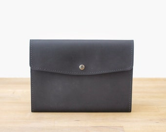 iPad Air 2 Case / Sleeve - Handmade Leather in Black