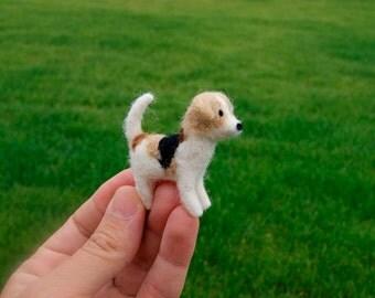 Felt beagle, beagle miniature, dog miniature, felt dog, felt pet