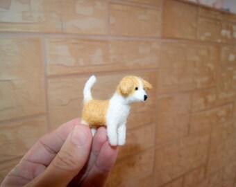 Felt dog, custom dog miniature, dog miniature, felt dog, felt pet
