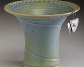 Muted Green with Blue Earring Holder