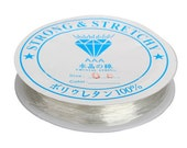 Translucent .8mm Elastic String / Elastic Cord / Clear Beading Thread / Stretch Cord / Bracelet String ... Crystal Thread