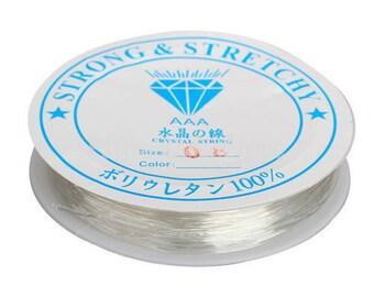 Translucent .8mm Elastic String / Elastic Cord / Clear Beading Thread / Stretch Cord / Bracelet String ... Crystal Thread