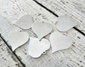 """7/8"""" Heart with Ring ALUMINUM 20g Blank - 7/8"""" Heart with Ring - Larger Size - You Get SIX (6) Blanks - Hand Stamped Jewelry Supply"""