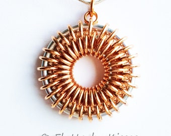 Sunburst Chainmaille Pendant Tutorial