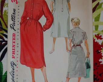Vintage Pattern c.1954 Simplicity No.4761 Dress, Size 13