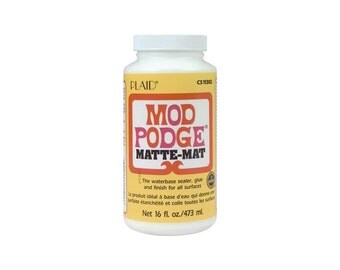 Mod Podge Matte Finish - 16 ounces - For Wood Paper Fabric & Porous Surfaces Like Terra-cotta, Plastic, Foam and Candles (131006)