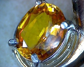 Beautiful Golden Yellow Sapphire Pendant