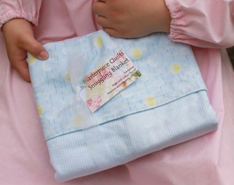 A Baby Blue Moon Masterpiece Quilt Snuggling Blanket