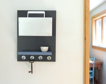 STATION: wall mount organizer ipad iphone wallet key rack storage modern organization entry decor
