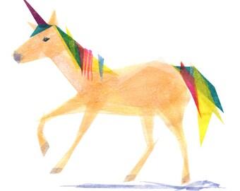 Inez Unicorn - Animal Art Print