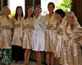 Silk Robes for Bridesmaid, Satin Bridesmaid Robes, Bridesmaids Robes, Bridesmaid Robe, Satin like Silk Bridesmaid Robe, Bride Silk Robe