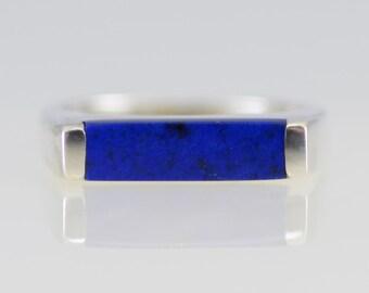 Bar None Lapis Lazuli Sterling Ring