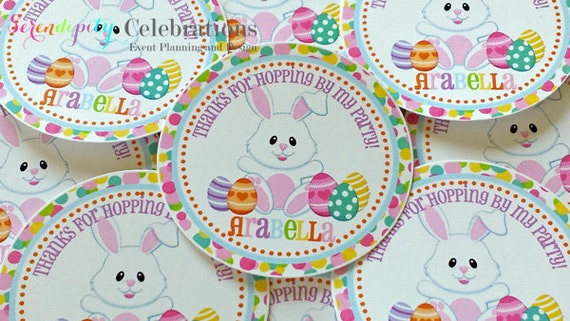 Set of 12 personalized favor tags pastel easter thank you tag il570xn negle Images