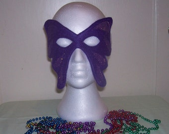 butterfly child's felt mask with reinforced elastic band