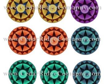"1"" Cab Star Design Bottle Cap Images Epoxy Stickers Download PDF"