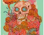 Day of the Dead, Dia de los Muertos, Marigolds, Cempasúchitl Art Print