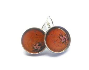 Peach Flower Earrings