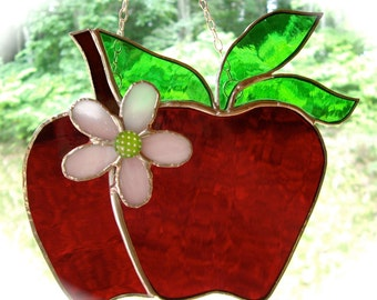The Big Apple stained glass suncatcher