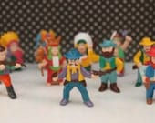 Vintage Cowboys and Indians Figurines / Decorations / Cake toppers / Supplies