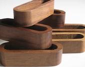 Vintage modern wood napkin rings x8