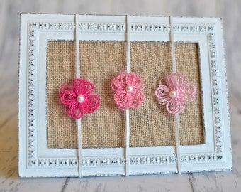 Newborn Headbands- Set of Three Pink Headbands, Photography Supply, Newborn Photography, Baby Accessory READY TO SHIP