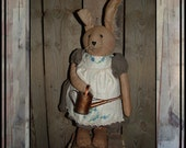 Soft sculpted standing girl rabbit bunny watering can Prims Magazine HAFAIR faap OFG