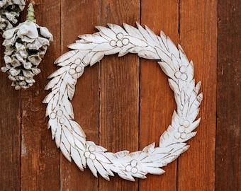 Wooden Door Wreath Holiday Decor Christmas Door Wreath Wooden Wreath