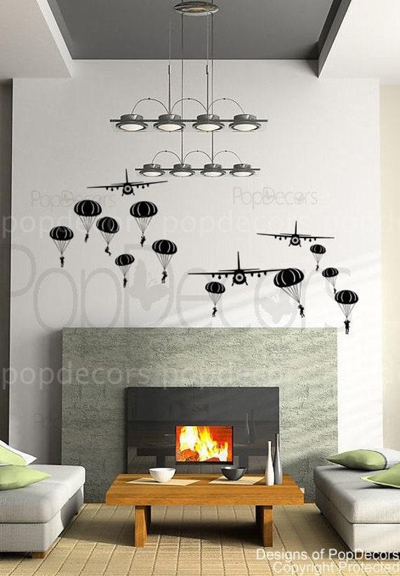 custom for Sarah Edye - Paratrooper and air planes