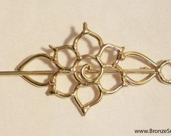 Bronze Lotus Barrette