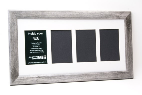 10x20 4 opening picture frame with multi opening mat to hold 4x6 photographs for personalized name