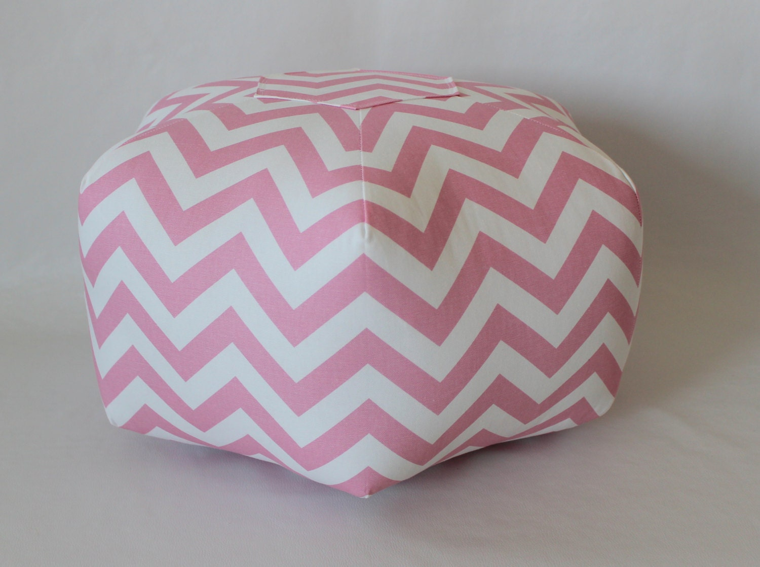 Floor Pillows For Infants : 18 Pouf Ottoman Floor Pillow Baby Pink Zig Zag Chevron by aletafae