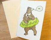 Dancing Bear 4x6 Notecard