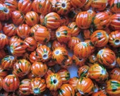 Orange Pumpkin Acrylic Beads 11.5mm 20 Beads