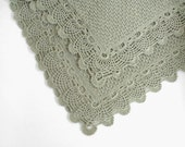 Knitted Baby Blanket - Gray Beige