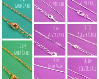Add a Chain to Your Order- Choose your Length and Type