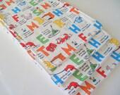 Gender Neutral Burp Cloth, Burp Rag, Bright Print Burp Cloth, Terry Back Burp Rag