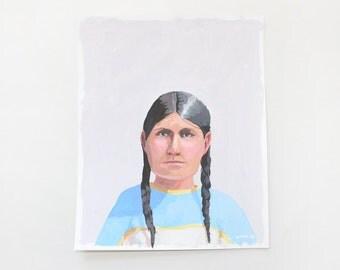 """8x10"""" painting - """"Sacagawea"""""""
