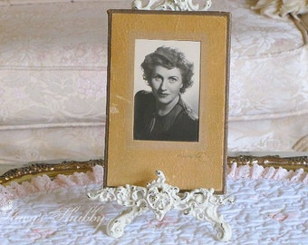 Vintage Black and White LADY PHOTOGRAPH, 1930s, Vignette, Display