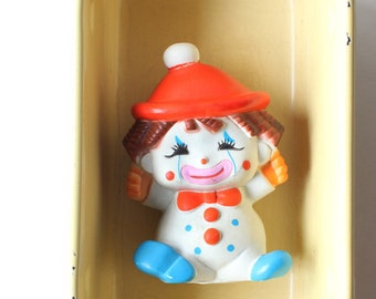 Vintage Children's Clown Squeak Toy