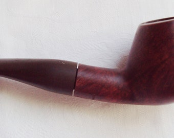 Vintage Ove Lindall Handmade Smooth Bent Brandy Briar Pipe 4 Handmade Danish Pipe Tulip Shape