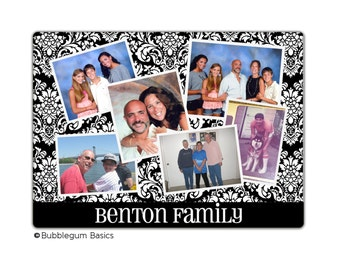 Custom personalized Monogrammed GLASS CUTTING BOARD or Display - Any Pattern - Photo Collage Photograph - Any Color - Kitchen Home
