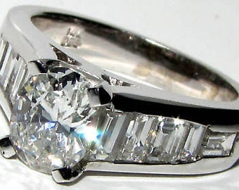 2.32CT Oval Diamond Ring Natural & Best Mount