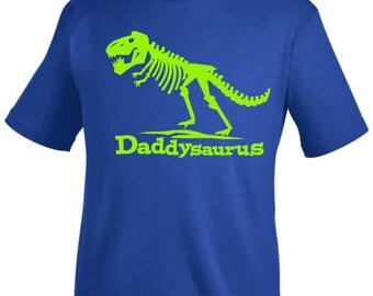 Daddysaurus T Rex Shirt - Dad dinosaur tshirt - you pick the colors!