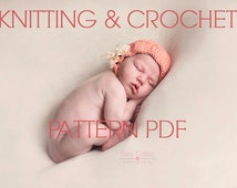 KNITTING and crochet ribbed simple baby bonnet patttern PDF instant download newborn 3 mos 6 mos sizes