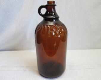 Purex Bleach Bottle, Amber Glass