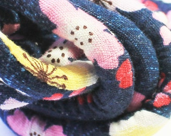 Japanese kimono fabric cord, Textile jewelry cord, DIY necklace  j71